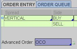 Placing an OCO on Option Trades