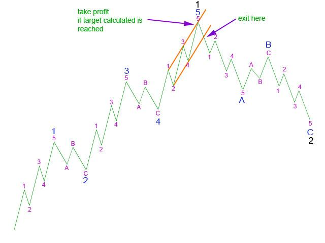 Picture 5: Using a trend channel about 5 to exit - Elliott Wave 2011